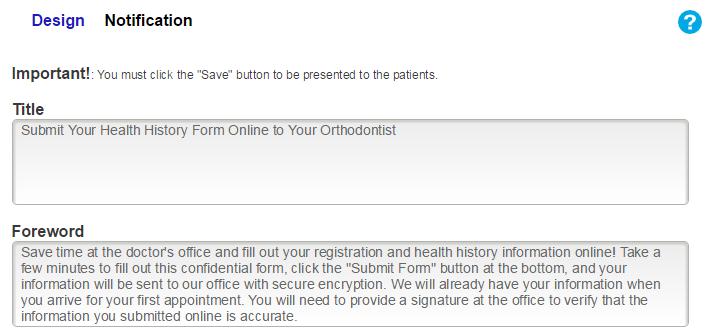 online patient forms