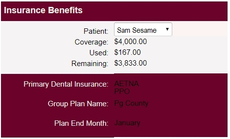 Patient Pages Financial Info